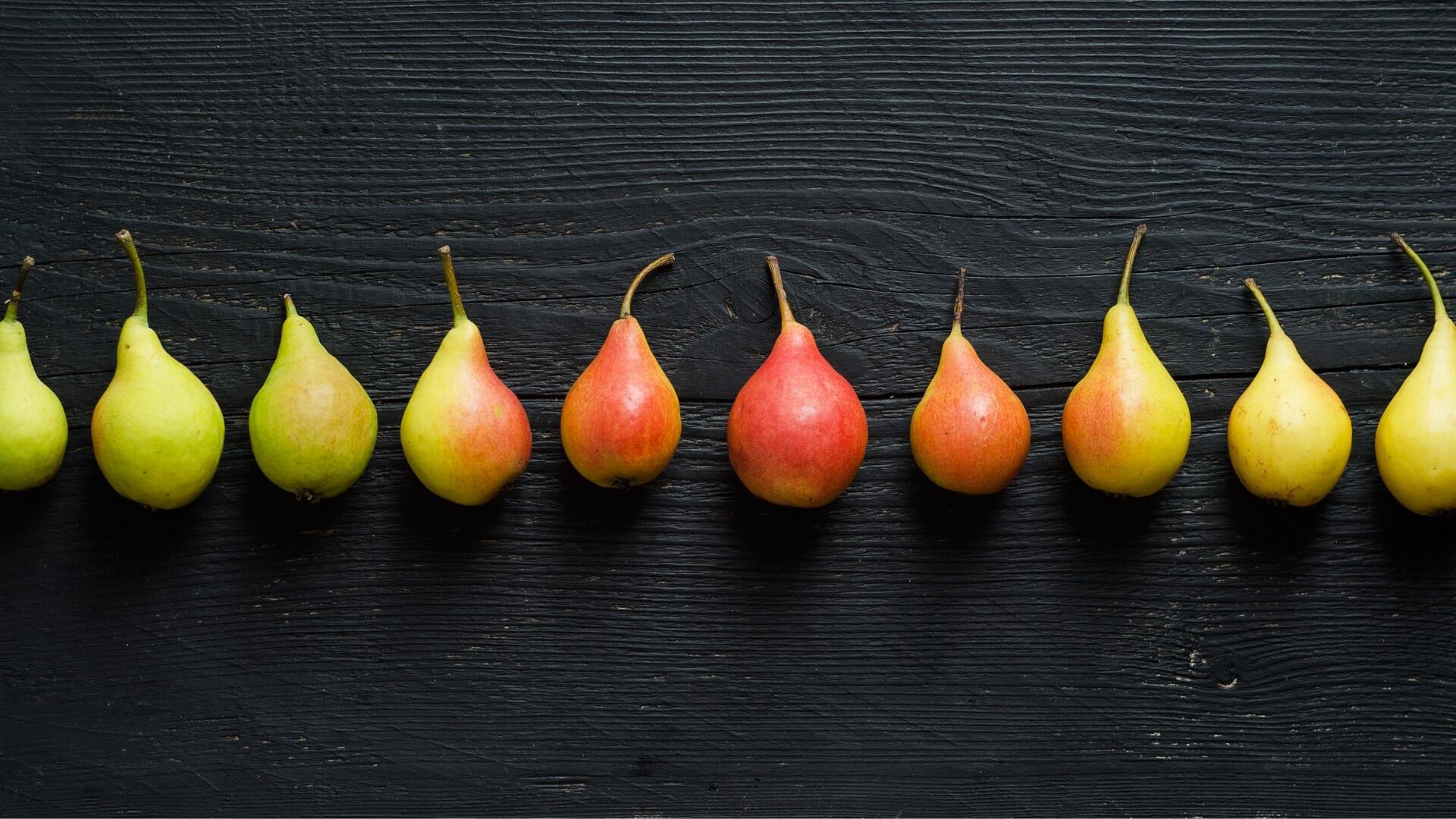 I colori delle pere