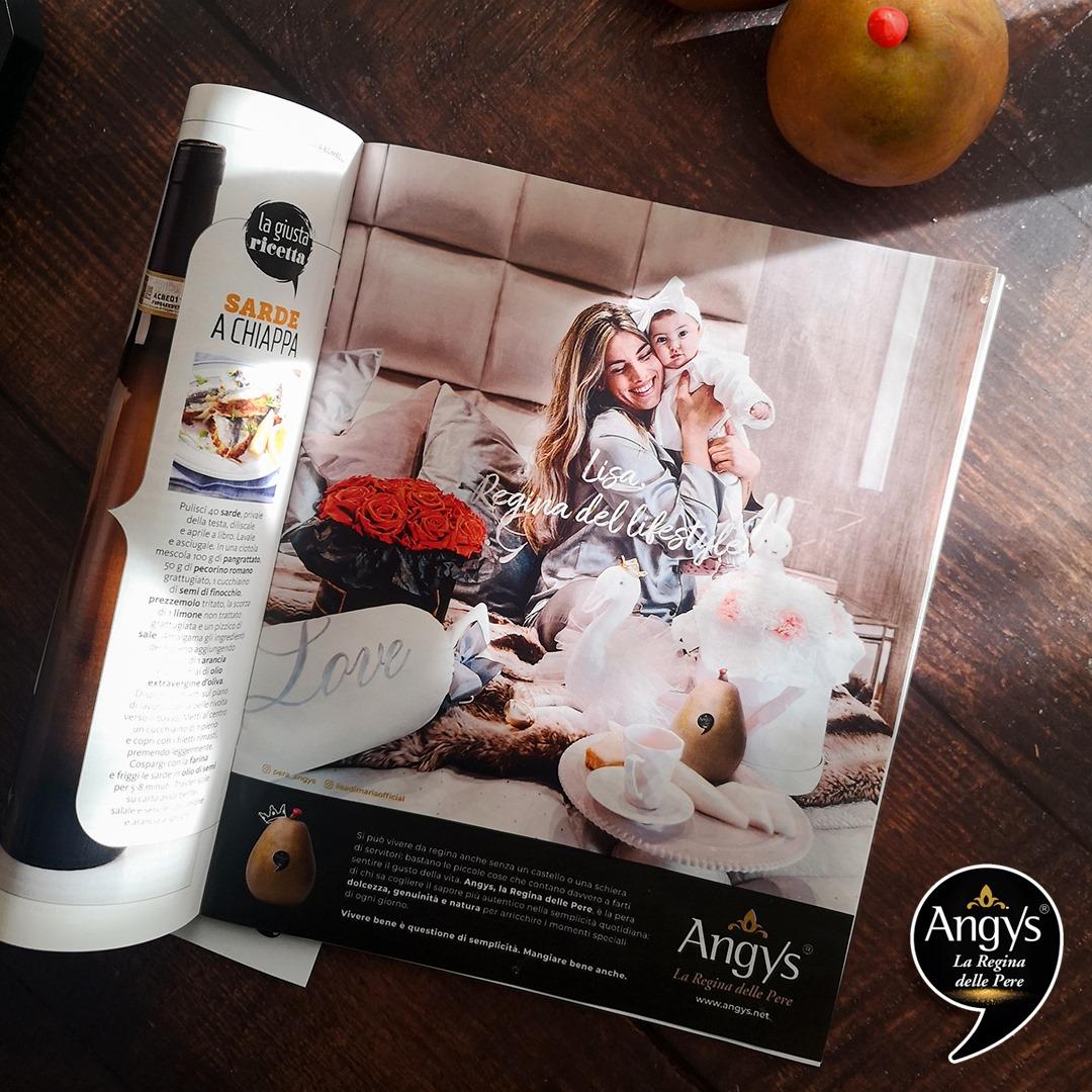 campagna di comunicazione pera Angys su GialloZafferano